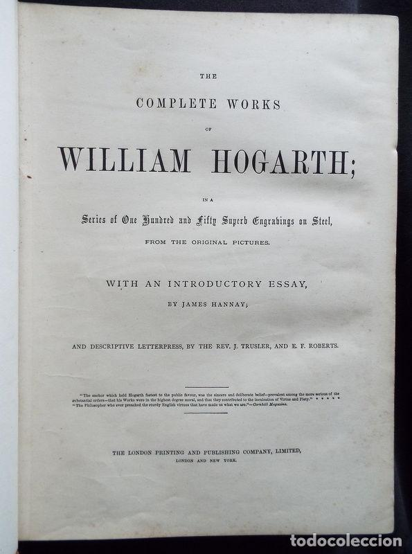 Libros antiguos: THE COMPLETE WORKS OF WILLIAM HOGARTH....., hacia 1870. JAMES HANNAY - Foto 4 - 230428715