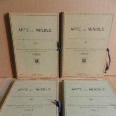 Libros antiguos: ARTE DEL MUEBLE TOMO I – II – III - IV / VÍCTOR DE FALGÁS 1930 MUEBLE Y DECORACIÓN CARPINTERIA 4 UDS. Lote 230687475