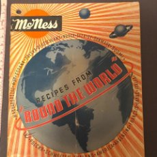 Libros antiguos: COOK BOOK. RECIPES FROM ¨ROUND THE WORLD¨. MCMESS. ED. Lote 231177650