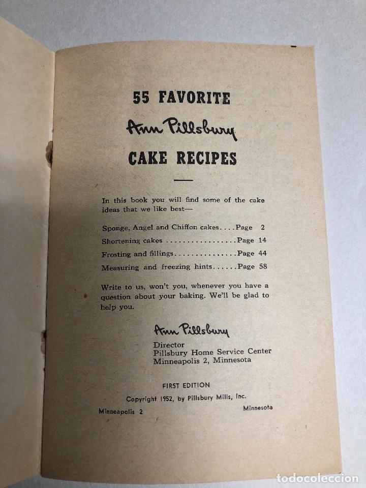 Libros antiguos: Cook Book. Kate Smith chooses her 55 favorite CAKE RECIPES. Ed 1952. Minessota - Foto 3 - 231180545