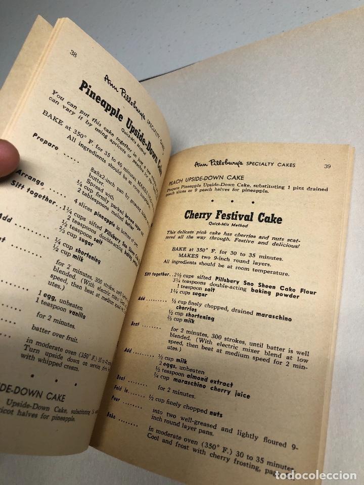 Libros antiguos: Cook Book. Kate Smith chooses her 55 favorite CAKE RECIPES. Ed 1952. Minessota - Foto 4 - 231180545