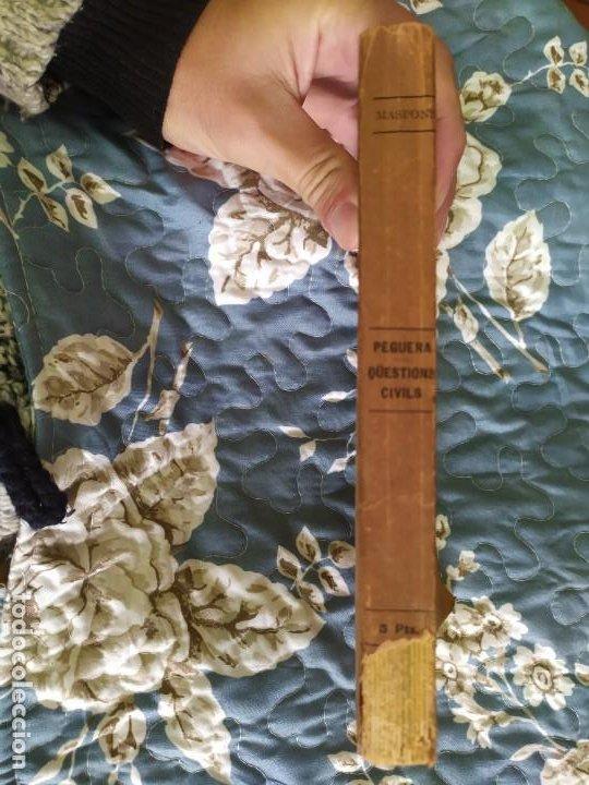 Libros antiguos: 1913. Questions Civils. Francisco Maspons I Anglasell. - Foto 3 - 231299855