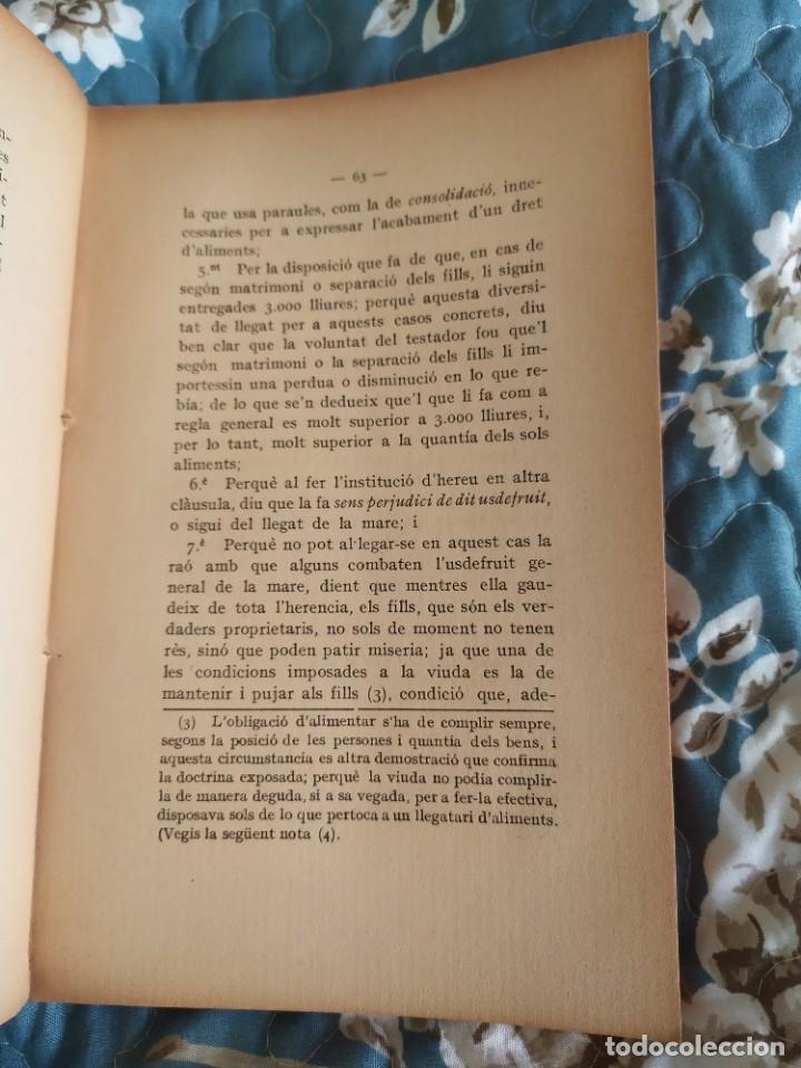 Libros antiguos: 1913. Questions Civils. Francisco Maspons I Anglasell. - Foto 6 - 231299855