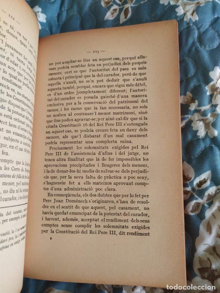 Libros antiguos: 1913. Questions Civils. Francisco Maspons I Anglasell. - Foto 7 - 231299855