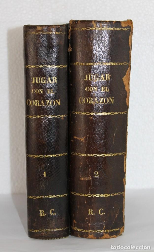 JUGAR CON EL CORAZÓN POR ANTONIO PADUA ILUSTR. EUSEBIO PLANAS. 2 TOMOS LA ILUSTRACIÓN BARCELONA 1875 (Libros antiguos (hasta 1936), raros y curiosos - Literatura - Narrativa - Otros)