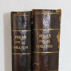 Libros antiguos: JUGAR CON EL CORAZÓN POR ANTONIO PADUA ILUSTR. EUSEBIO PLANAS. 2 TOMOS LA ILUSTRACIÓN BARCELONA 1875. Lote 231454010