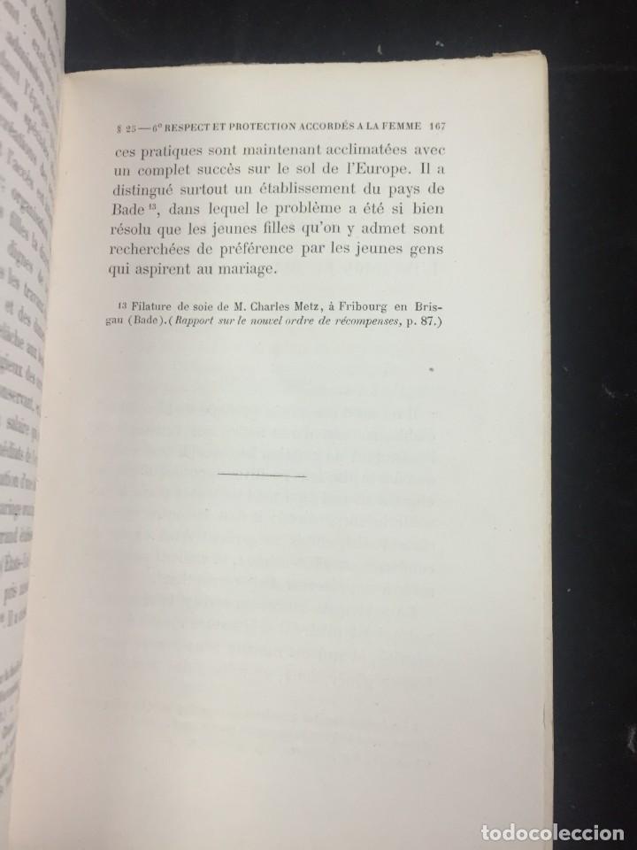 Libros antiguos: Lorganisation du travail, selon la coutume des ateliers et la loi du Décalogue. Le play Tours 1870. - Foto 5 - 231499915