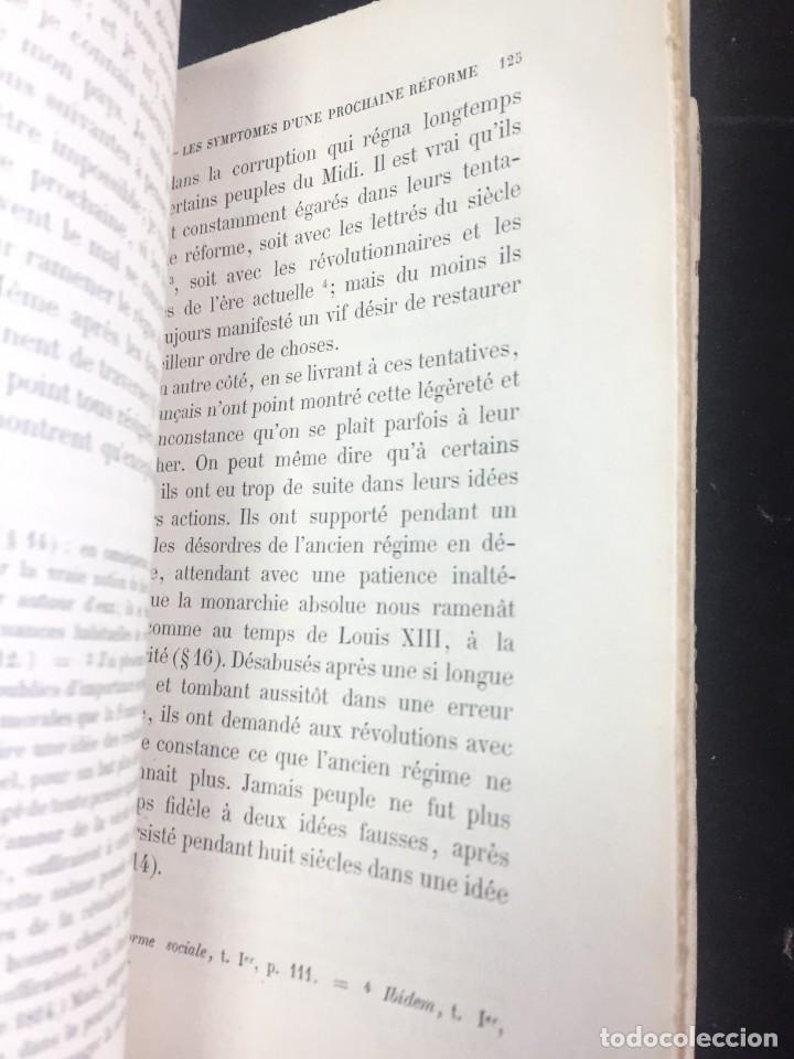 Libros antiguos: Lorganisation du travail, selon la coutume des ateliers et la loi du Décalogue. Le play Tours 1870. - Foto 6 - 231499915