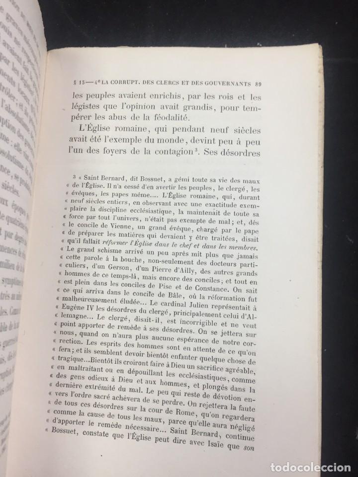Libros antiguos: Lorganisation du travail, selon la coutume des ateliers et la loi du Décalogue. Le play Tours 1870. - Foto 8 - 231499915
