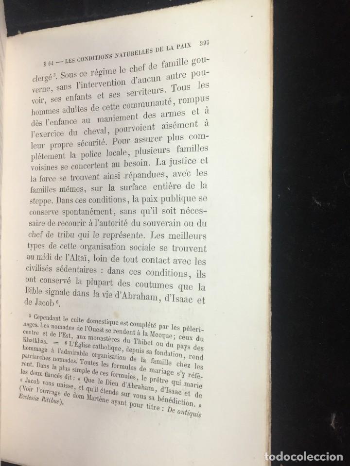 Libros antiguos: Lorganisation du travail, selon la coutume des ateliers et la loi du Décalogue. Le play Tours 1870. - Foto 10 - 231499915