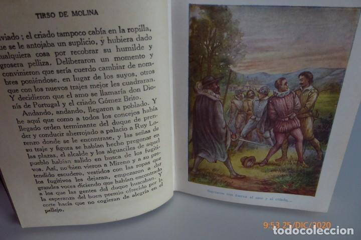 Libros antiguos: HISTORIAS DE TIRSO DE MOLINA RELATADAS A LOS NIÑOS - TERCERA EDICION 1942 - Foto 8 - 231730005