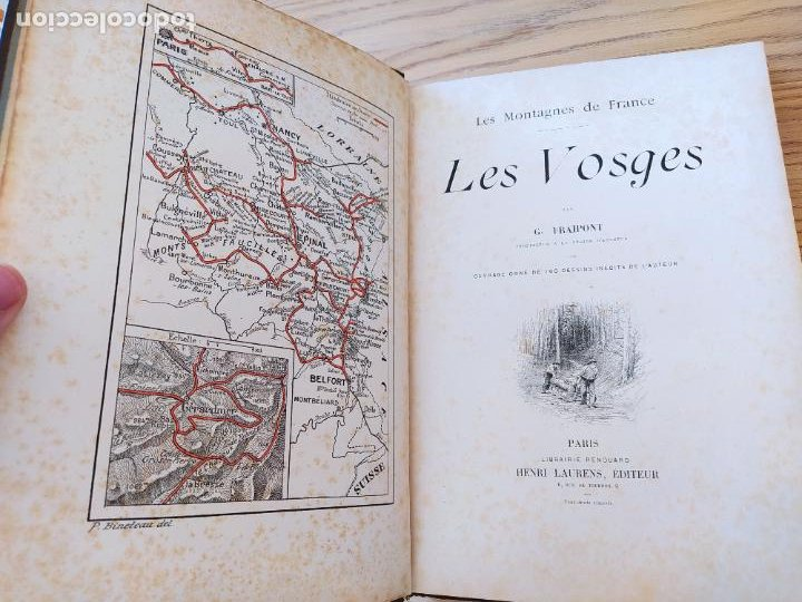 Libros antiguos: Les Vosges, Texte et Dessins G. Fraipont, ed. H. Laurens. 1897.Very rare in this condition. - Foto 14 - 231812060