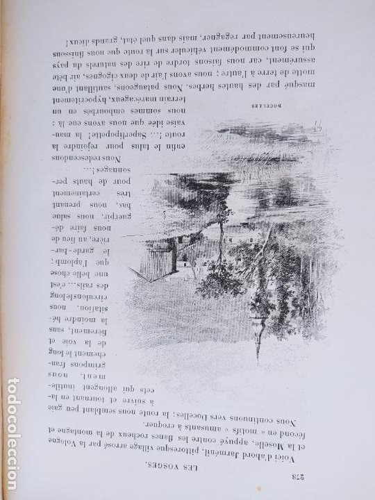 Libros antiguos: Les Vosges, Texte et Dessins G. Fraipont, ed. H. Laurens. 1897.Very rare in this condition. - Foto 32 - 231812060
