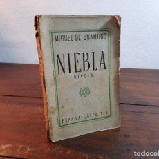 Libros antiguos: NIEBLA - MIGUEL DE UNAMUNO - ESPASA-CALPE, 1935, 3ª EDICION, MADRID. Lote 232187700