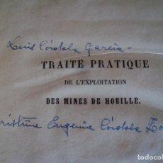 Libros antiguos: (LI-201276)TRAITÉ PRATIQUE DE L'EXPLOITATION DES MINES DE HOUILLE, AUTOR: JOHN HEDLEY. Lote 232268930