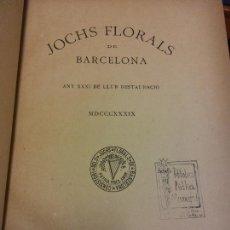 Libri antichi: JOCHS FLORALS DE BARCELONA. ANY XXXI DE LLUR RESTAURACIÓ. 1889. ESTAMPA LA RENAIXENSA. Lote 232417512