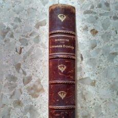 Libros antiguos: COMPENDIO DE HISTORIA DE LA LITERATURA ESPAÑOLA - L. RODRÍGUEZ MIGUEL - SALAMANCA, 1905 - MEDIA PIEL. Lote 232458235