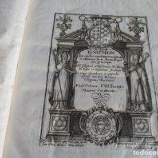 Libros antiguos: GNOMON SEU GUBERNANDI NORMA ABBATI ET CANONICIS SACRI MONTIS ILLIPULITANI PRAESCRIPTA... W4943. Lote 232460720