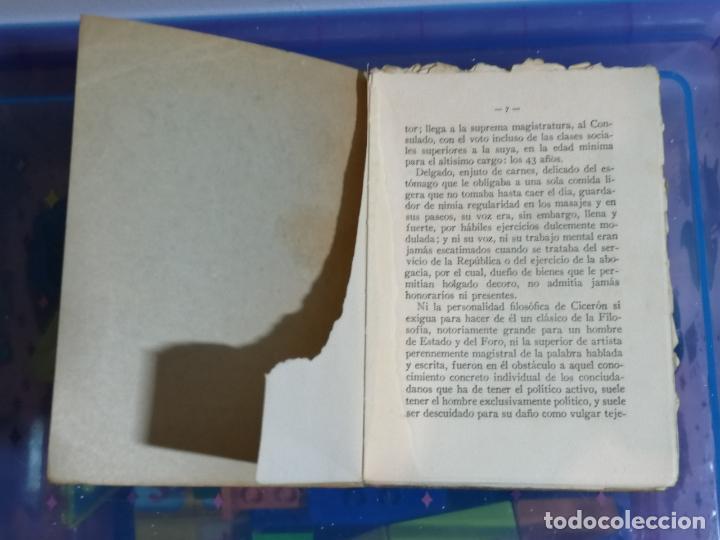 Libros antiguos: LIBRO DE LA VEJEZ Y DE LA AMISTAD. CICERÓN.PEDRO FONT PUIG.FALTAN PÁGINAS. VER FOTOS.W - Foto 2 - 232530120