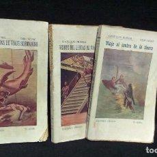Libros antiguos: JULIO VERNE : VEINTE MIL LEGUAS DE VIAJE SUBMARINO + VIAJE AL CENTRO DE LA TIERRA - BAUZA. Lote 232762105