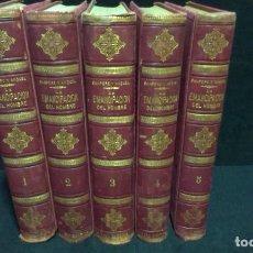 Libros antiguos: LA EMANCIPACION DEL HOMBRE - SALVADOR SANPERE Y MIQUEL 1883 - 5 TOMOS - OBRA COMPLETA. Lote 232887475