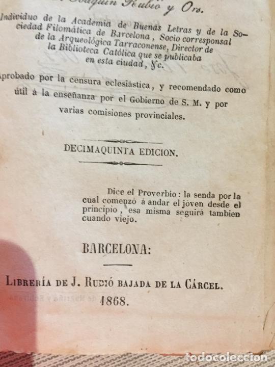 Libros antiguos: Antiguo libro el libro de las niñas por Joaquin Rubió y Oro año 1868 Barcelona - Foto 4 - 233181065