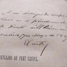 Libros antiguos: REFLEJOS DE FRAY CANDIL. RARISIMO. EMILIO BOBADILLA, CON UNA CARTA DE E. PARDO BAZAN, 1886. Lote 233209430