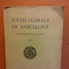 Libri antichi: JOCHS FLORALS DE BARCELONA. ANY LXII DE LLUR RESTAURACIÓ. MCMXX. BARCELONA. ESTAMPA LA RENAIXENSA. Lote 233347645