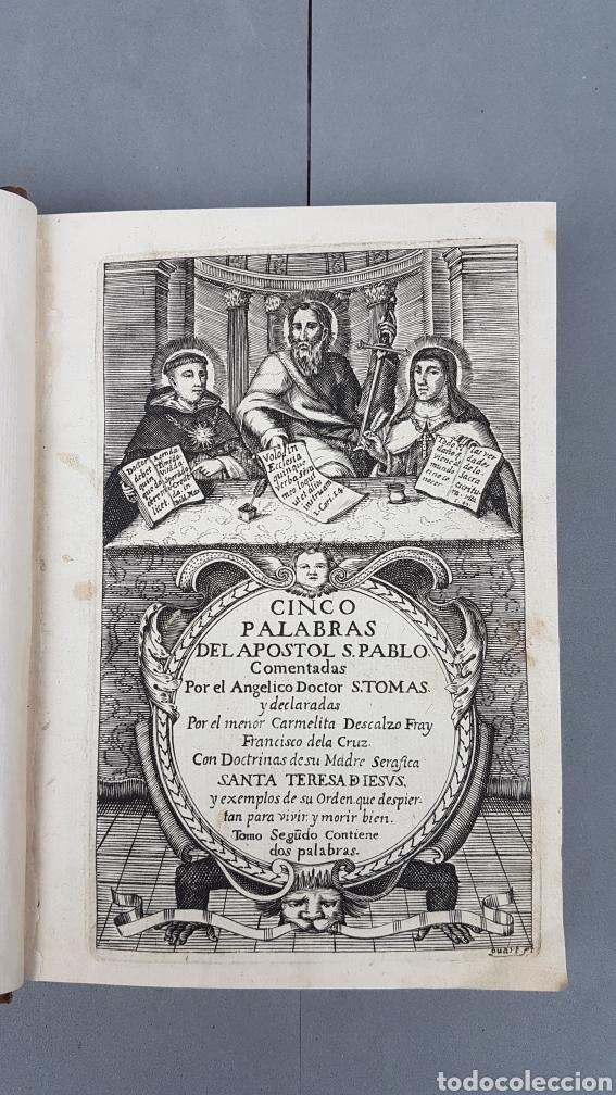Libros antiguos: CINCO PALABRAS DEL APÓSTOL S. PABLO comentadas por Santo Tomás de Aquino. TOMO II. AÑO 1724. - Foto 4 - 233399110
