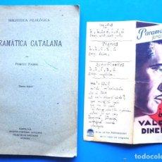 Libros antiguos: GRAMÀTICA CATALANA POMPEU FABRA 1931 6A + ¿QUÉ VALE EL DINERO? GEORGE BANCROFT. Lote 233413460