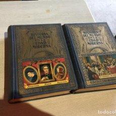 Libros antiguos: ANTIGUOS 2 LIBROS HISTORIA DEL MUNDO EN LA EDAD MODERNA POR EDUARDO IBARRA Y RODRÍGUEZ AÑO 141. Lote 233450125