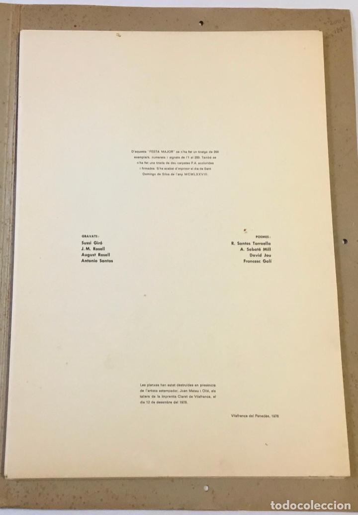 Libros antiguos: FESTA MAJOR. Vilafranca del Penedès, 1978. Edició de 200 exemplars. - Foto 2 - 233549630
