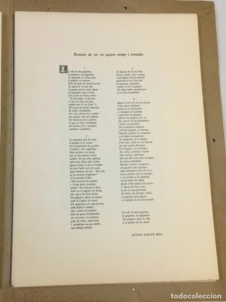Libros antiguos: FESTA MAJOR. Vilafranca del Penedès, 1978. Edició de 200 exemplars. - Foto 4 - 233549630