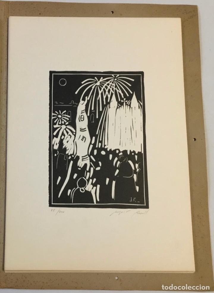 Libros antiguos: FESTA MAJOR. Vilafranca del Penedès, 1978. Edició de 200 exemplars. - Foto 6 - 233549630