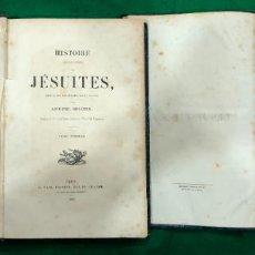 Libros antiguos: HISTOIRE DES JESUITES - BOUCHER / 2 TOMOS / MUNDI-736. Lote 233642890
