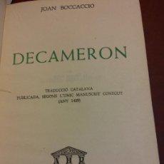 Libros antiguos: DECAMERON. JOAN BOCCACCIO. EDITORIAL AHR. Lote 233685695