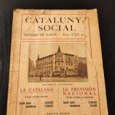 Libros antiguos: CATALUNYA SOCIAL - NÚMERO DE NADAL - 1927. Lote 233708875