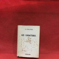 Libros antiguos: LIBRO LOS CARACTERES JEAN DE LA BRUYERE AGUILAR CRISOL CRISOLIN 1959 N°56. Lote 261619025
