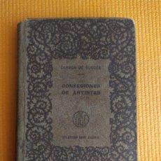 Libros antiguos: CONFESIONES DE ARTISTAS CARMEN DE BURGOS COLOMBINE TOMO I. Lote 234738080