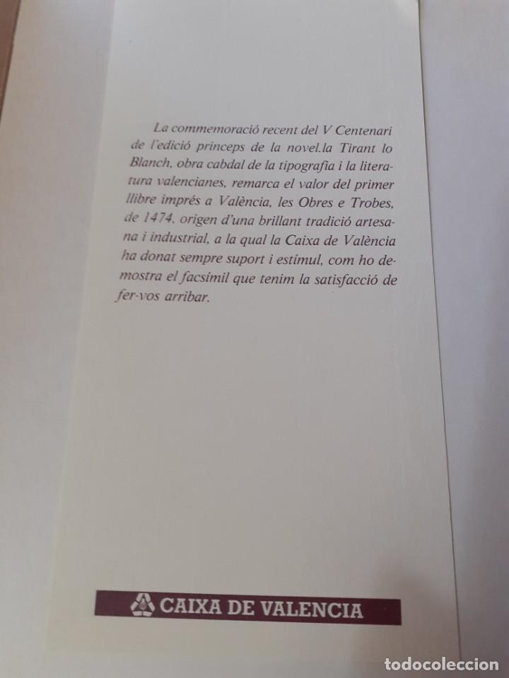 Libros antiguos: Edicion facsimil del libro Les trobes en labors de la Verge Maria - Foto 4 - 234751415