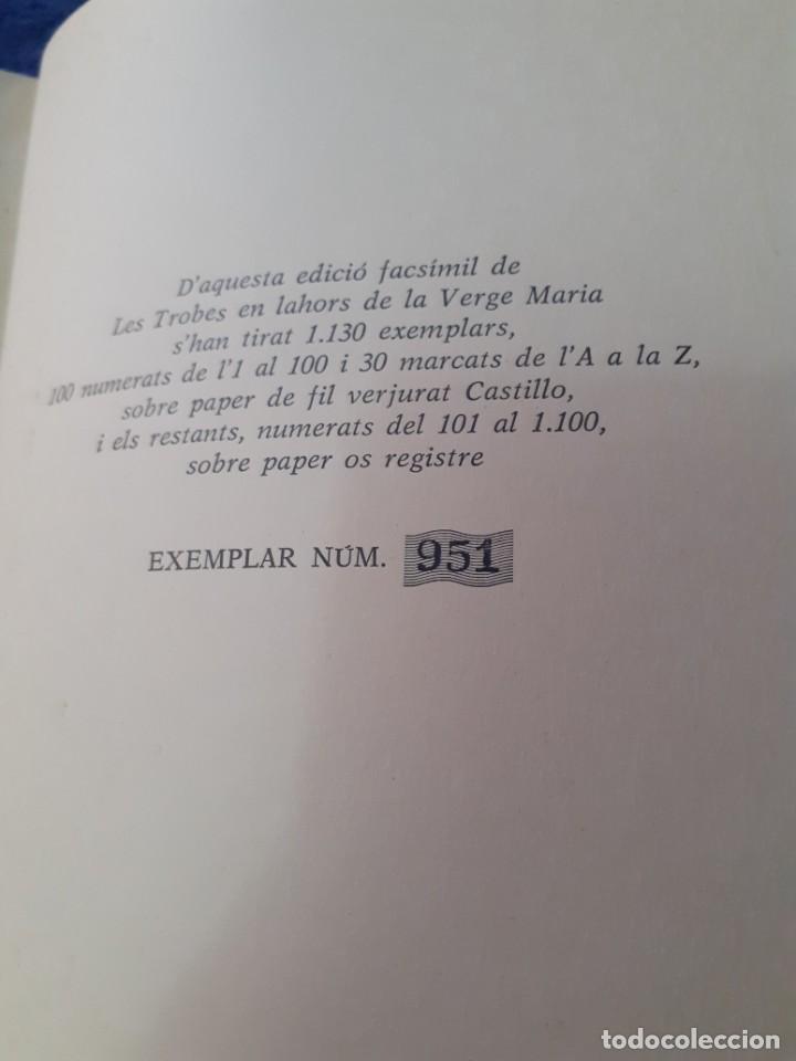 Libros antiguos: Edicion facsimil del libro Les trobes en labors de la Verge Maria - Foto 5 - 234751415