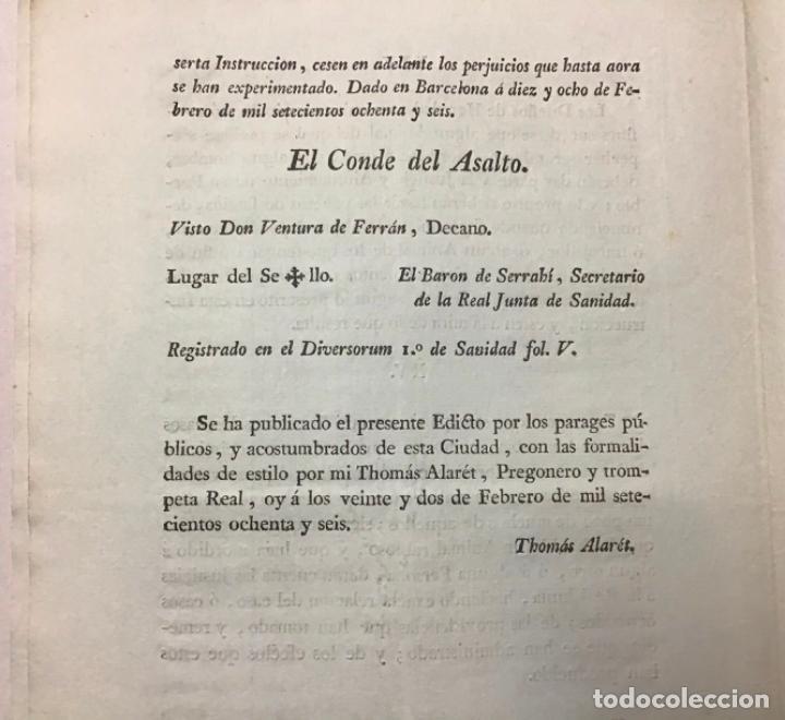 Libros antiguos: ASALTO, Conde del. iNSTRUCCIÓN sobre cómo actuar ante la presencia de perros rabiosos en las calles - Foto 4 - 234841265
