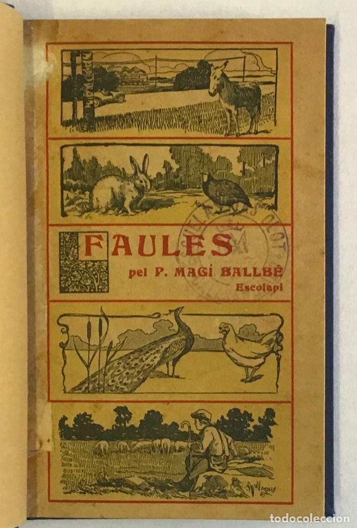 Libros antiguos: FAULES. - BALLBÉ, Magí. 1914 - Foto 2 - 234859500
