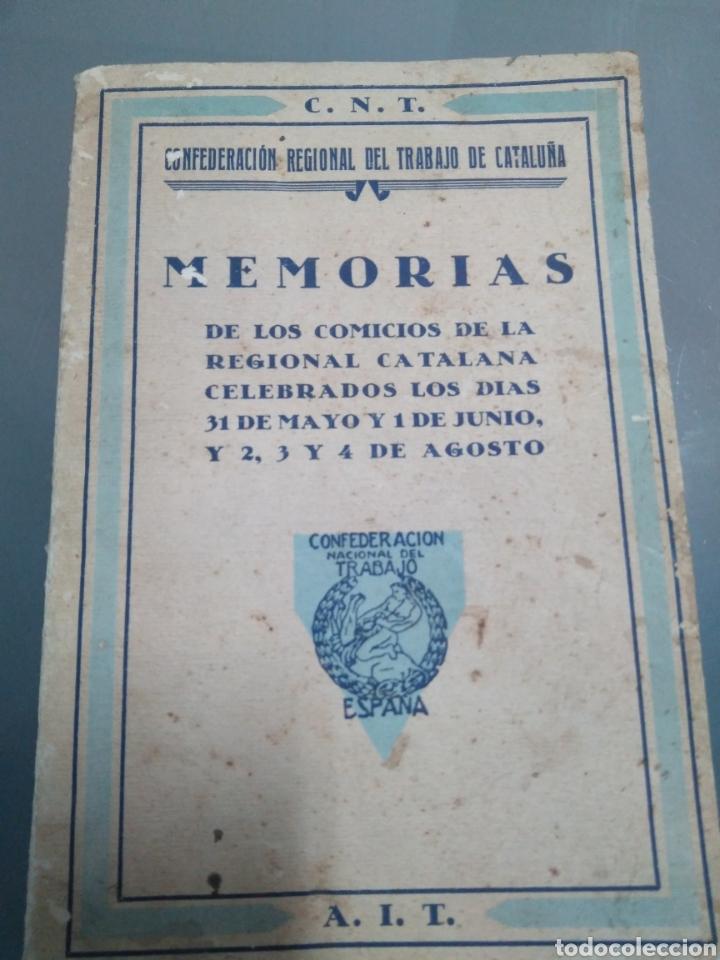 CNT MEMORIAS (Libros Antiguos, Raros y Curiosos - Pensamiento - Otros)