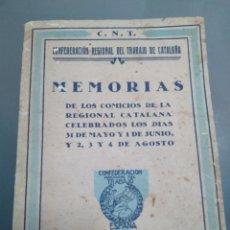 Libri antichi: CNT MEMORIAS. Lote 235027860