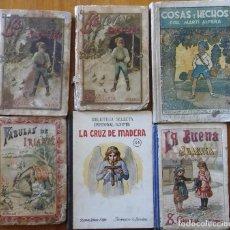 Libros antiguos: LOTE DE 6 LIBROS INFANTILES ANTIGUOS. Lote 235132755