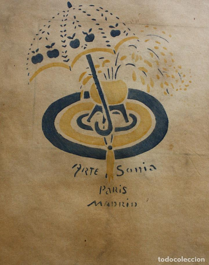 Libros antiguos: José Zamora, Sonia Delaunay. Revista Perfiles. 1920. Nº1 (único numero publicado) - Foto 2 - 235221960