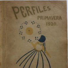 Libros antiguos: JOSÉ ZAMORA, SONIA DELAUNAY. REVISTA PERFILES. 1920. Nº1 (ÚNICO NUMERO PUBLICADO). Lote 235221960
