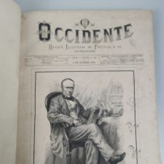 Libros antiguos: OCCIDENTE REVISTA ILUSTRADA DE PORTUGAL E DO ESTRANGEIRO. LISBOA 1878. VOLUMEN 1° - 1°ANNO. Lote 235286620