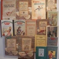 Libros antiguos: 16 LIBROS FACSÍMILES RELATIVOS A LA GASTRONOMÍA. COCINA CASERA TRADICIONAL ESPAÑOLA REPOSTERÍA. Lote 235591405